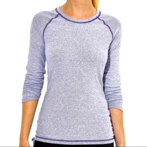Lucy Purple White Stripe LS Athletic Top *No Size*